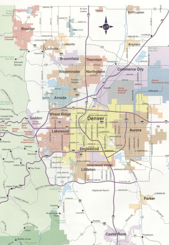 Zip Code Map Denver Metro Area MEMES